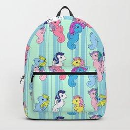 g1 my little pony sea pony pattern Backpack