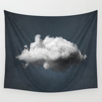 magritte Wall Tapestries featuring WAITING MAGRITTE by THE USUAL DESIGNERS
