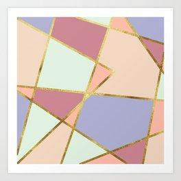 candy geometric Art Print