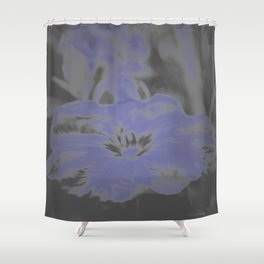 Bloom in Neon Blue Shower Curtain
