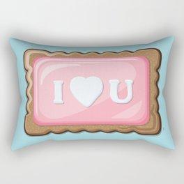 ZA-Cookie: I Love U Rectangular Pillow