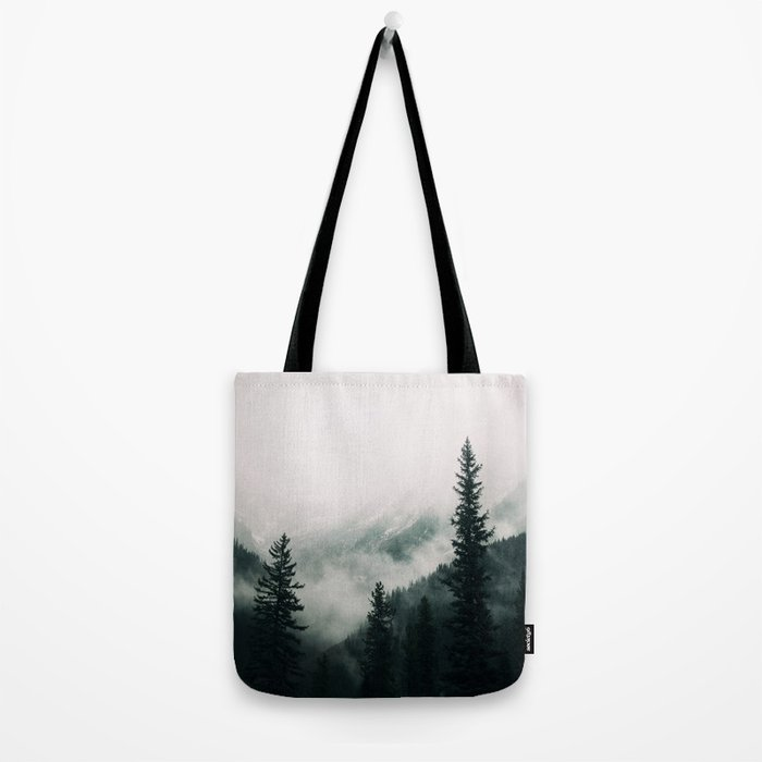 Over the Mountains and trough the Woods -  Forest Nature Photography Tote Bag