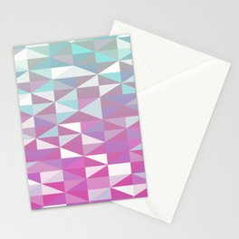 Purple Turquoise Rhombus - Pattern Stationery Cards