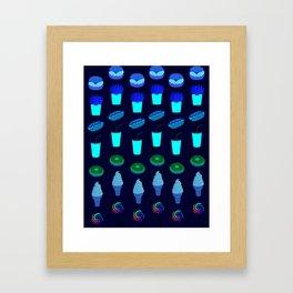 Celebration of Junk Foods Framed Art Print