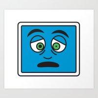 Sick icon Art Print