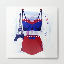 The Bikini Series: Paris Metal Print