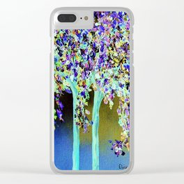 In a Blue and Purple World Clear iPhone Case
