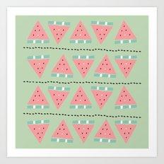 watermelon repeat Art Print