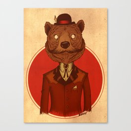 {Bosque Animal} Oso Canvas Print