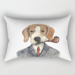 Monsieur Beagle Rectangular Pillow