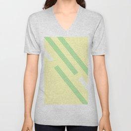 Green yellow white Unisex V-Neck