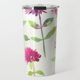 Bee Balm Watercolor Travel Mug