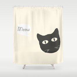 MEOW!  Shower Curtain