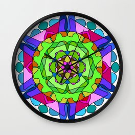 Anti-stress therapy mandala Wall Clock