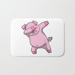 Dabbing Pig Design Pink Swine Cute Boar Bath Mat