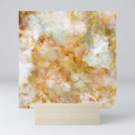 Gold Rippled Marble Mini Art Print