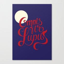 Omnis vir lupus Canvas Print