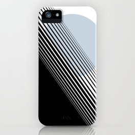 Rising Sun Minimal Japanese Abstract White Black Blue iPhone Case