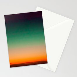 Green and Yellow Magic Dawn in the Sky (Vintage Nature Photography) Stationery Cards