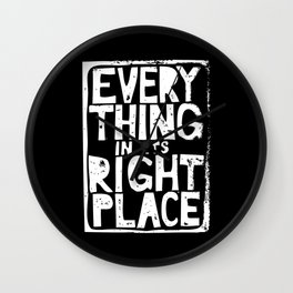 Everything in Its Right Place - Radiohead Wall Clock