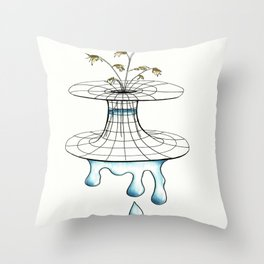 worm vase Throw Pillow