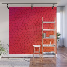 Red Gradient Stained Glass Wall Mural