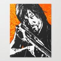 daryl Canvas Prints featuring Daryl by Blake Lee Ferguson