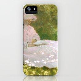 Springtime by Claude Monet iPhone Case