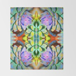Succulent Color - Botanical Art by Sharon Cummings Throw Blanket