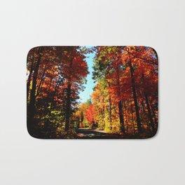 Fall Forest Road Bath Mat