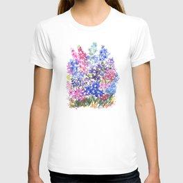 Blue Delphinium Garden T-shirt