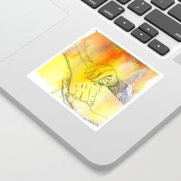 Watercolor Hands Sticker