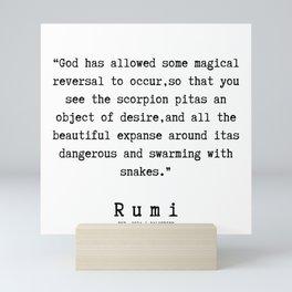 137   | Rumi Quotes | 190221 Mini Art Print