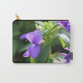 Purple Snap Dragon Flowers Carry-All Pouch