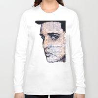 elvis Long Sleeve T-shirts featuring Elvis by Krzyzanowski Art