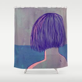 At the sea Shower Curtain