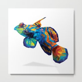 Geometric Abstract Mandarin Dragonette Goby Metal Print
