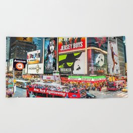Times Square II Special Edition II Beach Towel