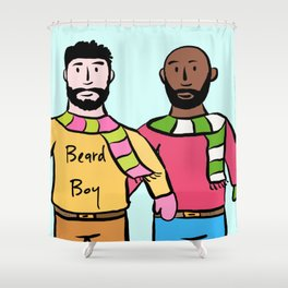 Beard Boy: James & Mike Shower Curtain