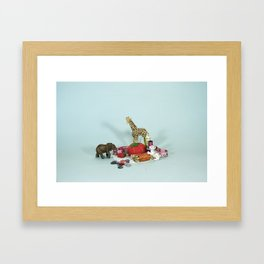 Grandma's Animals Framed Art Print