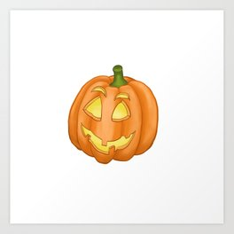 Smiling pumpkin Art Print