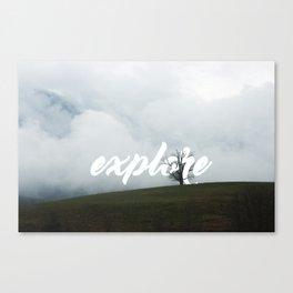 Explore // #TravelSeries Canvas Print