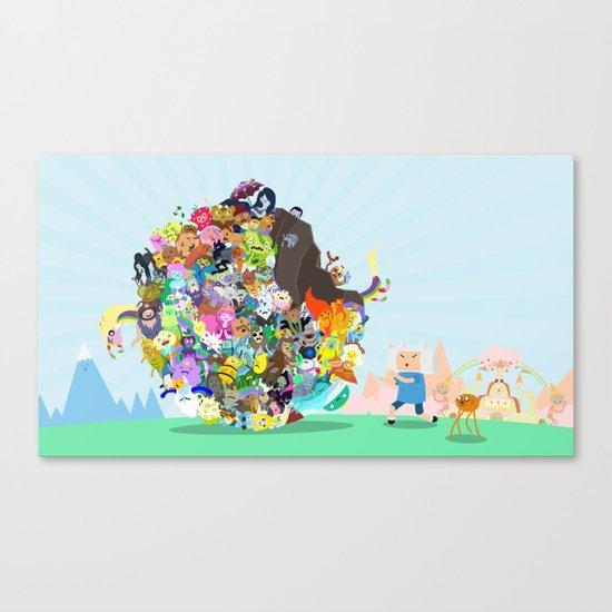 Adventure Time - Land of Ooo Katamari Canvas Print