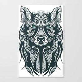 Wolf Head Tribal Illustration Canvas Print