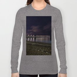 Ventura pier, CA. night landscape Long Sleeve T-shirt