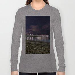 Ventura pier, CA. night landscape Long Sleeve T-shirt