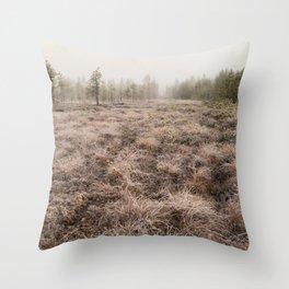 Arctic swamp Throw Pillow
