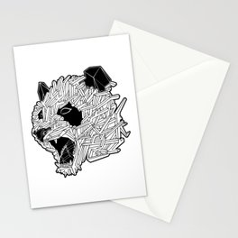 Geometric Panda Stationery Cards