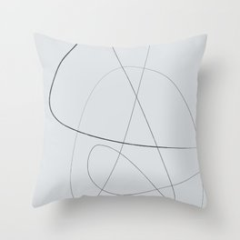 Gray Abstract Lines No. 2 Throw Pillow