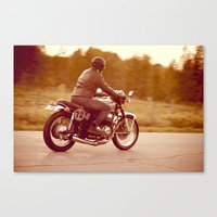 cafe racer Canvas Prints featuring Vintage cafe racer by gabyjalbert